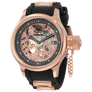 Invicta Men's 1090 Russian Diver Mechanical Skeleton Dial Watch