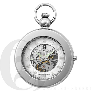 Charles Hubert Mechanical Picture Frame Pocket Watch - 3849