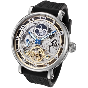 Rougois Skeleton Automatic Dual Time Zone Watch