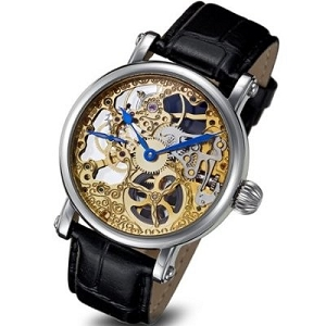 Rougois Two Tone Skeleton Mechanical Watch