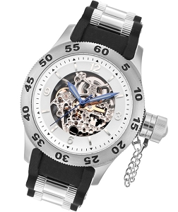 Rougois Skeleton Dial Naval Diver Automatic Watch
