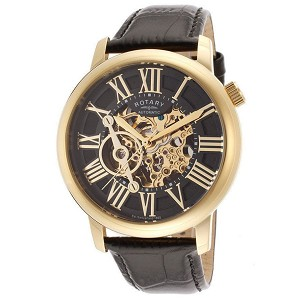 Rotary Swiss Men's Automatic Skeletonize Dial Watch