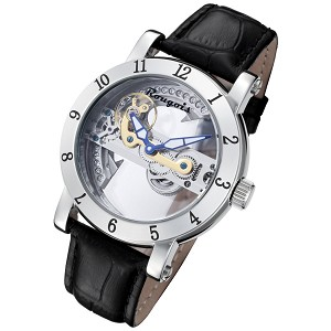 Rougois Automatic Skeleton Watch with Bridge Mechanical Movement