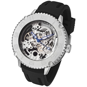 Rougois Skeleton Automatic Mechanical Watch Stainless Steel