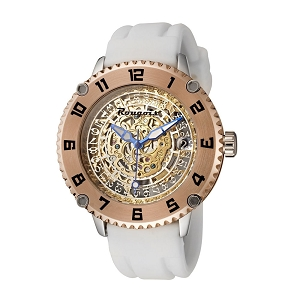 Rougois Skeleton Open Date Automatic Mechanical Watch