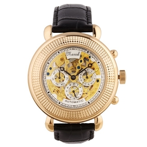 Marcel Drucker Men's Automatic Mechanical Rose Gold Skeleton Watch