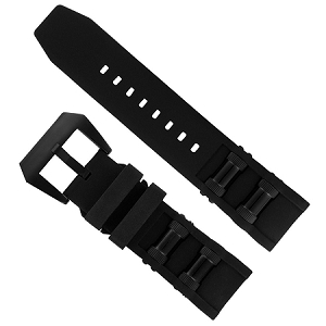 Black Watch Band for Invicta 1091, 17276, 1846, 1848, 17268 Watches