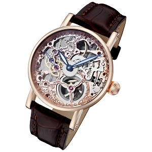 Rougois Rosarita Gold Mechanical Rose Gold Skeleton Watch