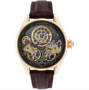 Bronze Finish Regal Double Escapement Automatic Watch by Rougois