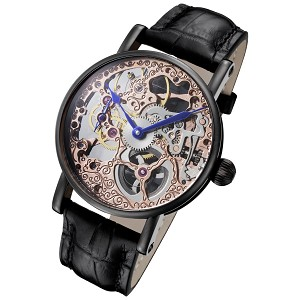 Rougois Tattoo Rose Gold Mechanical Skeleton Watch